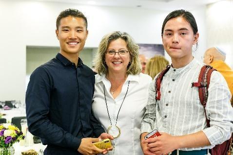 Liu Wentai (Tal), Dr. Danielle Gurevitch and Xia Haoran (Troy)