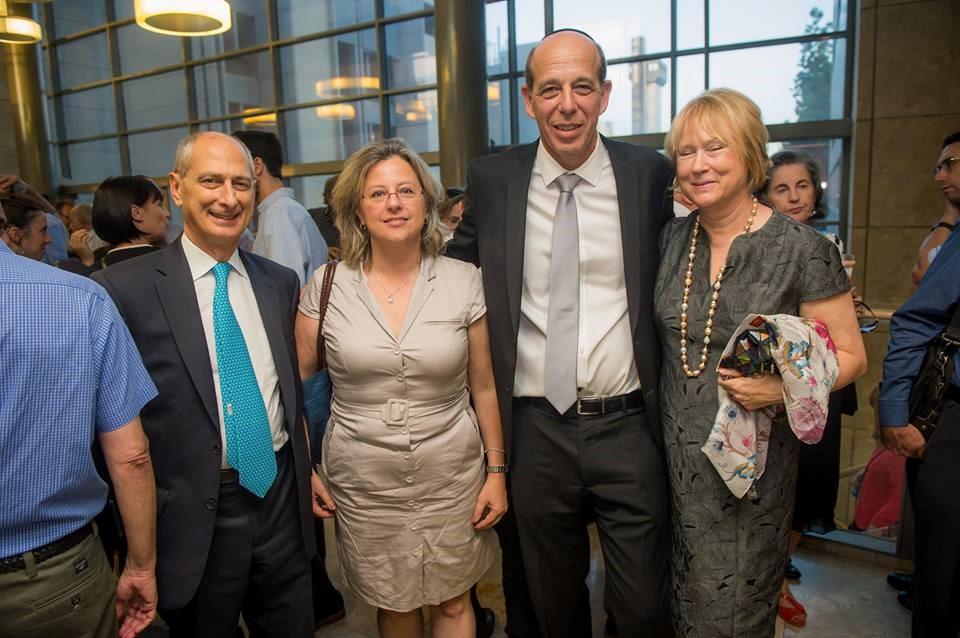 Dr. David Dangoor, Dr. Danielle Gurevitch, Prof. Arie Zaban (BIU president), Dr. Judy Dangoor