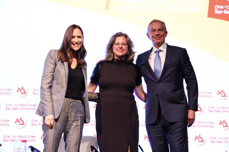 From Right to Left: Mr. Tony Blair, Dr. Danielle Gurevitch, Mrs. Yonit Levy